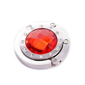 Háček na kabelku - červený