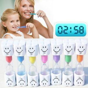 Přesýpací hodiny na čištění zubů - růžové