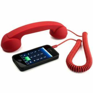 Retro sluchátko na mobil