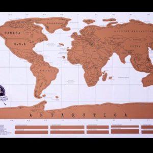 Stírací mapa světa - deluxe