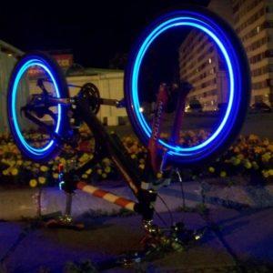 Svítící ventilky 2 ks - modré