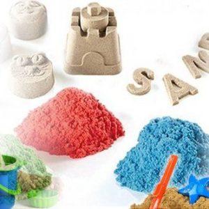 Tekutý kinetický písek - velký set (1000 g)