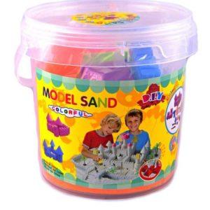 Tekutý kinetický písek střední set 1000 g - plastový box