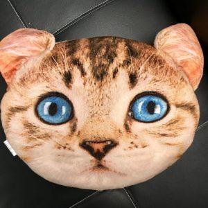 Polštář v designu kočky - béžový