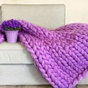 Příze pro ruční pletení - fialová