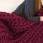 Příze pro ruční pletení - vínová