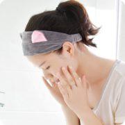 Kosmetická čelenka - šedá