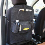 Pořadač na sedačku do auta - tmavě šedý