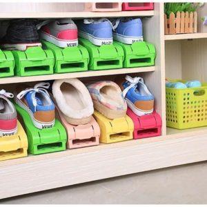 Plastový organizér na boty - zelený