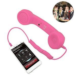 Retro sluchátko na mobil - růžové
