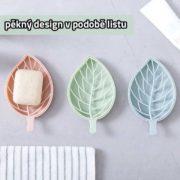 Odkapávač ve tvaru listu - světle zelený