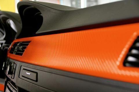 Karbonová fólie - oranžová
