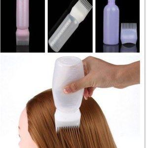 Lahvička s hřebenem na barvení vlasů