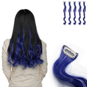 Barevné příčesky do vlasů - modré