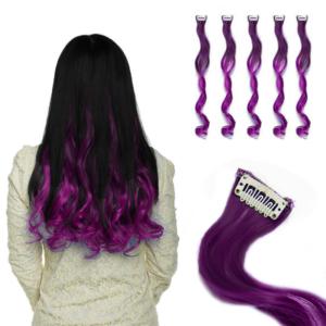 Barevné příčesky do vlasů - fialové