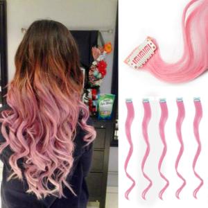 Barevné příčesky do vlasů - růžové