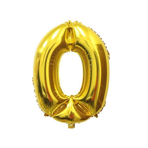 Nafukovací balónky čísla maxi - zlaté 0