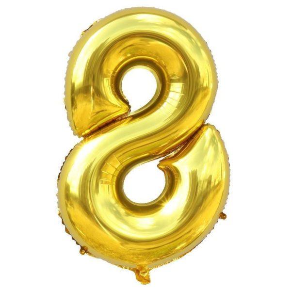 Nafukovací balónky čísla maxi zlaté - 8