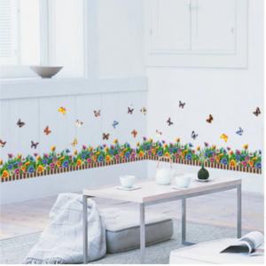 Nálepky na okno - barevné kytičky