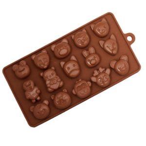 Silikonová forma na čokoládu - zvířata