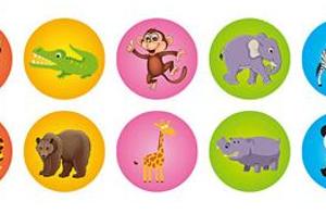 Dětská razítka zvířátka - 10 ks