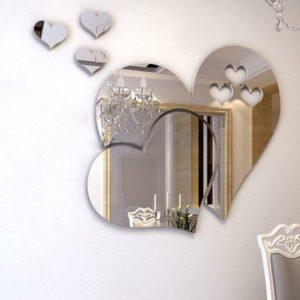 Nalepovací zrcadlo - srdce