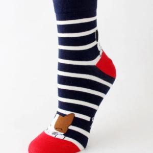Veselé kočičí ponožky - modré