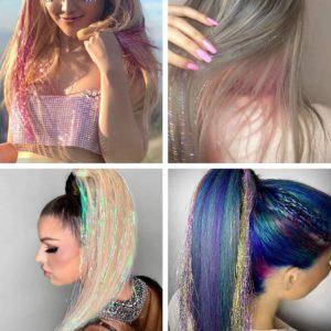 Pozlátko do vlasů - modré