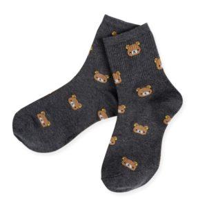 Ponožky s medvídky - šedé